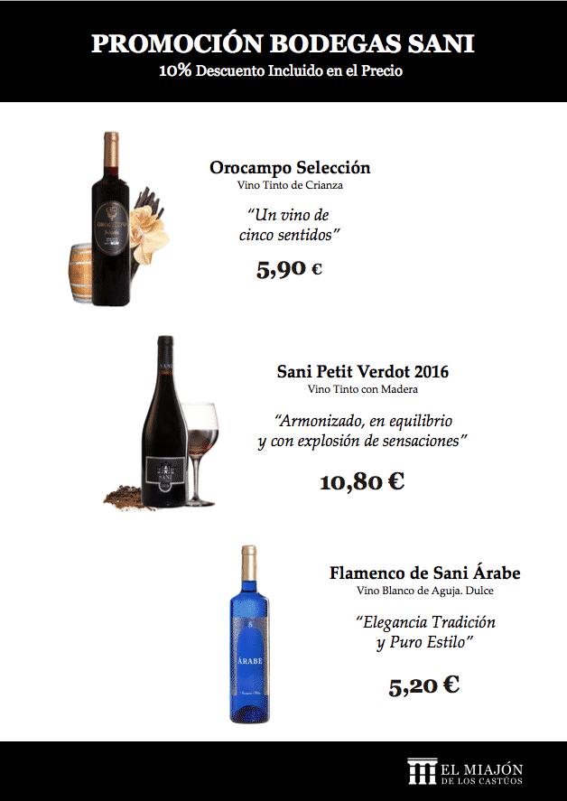 Promoción vinos Bodegas Sani